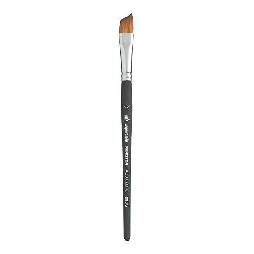 Princeton Aqua Elite NextGen Artist Brush, Series 4850 Synthetic Kolinsky Sable for Watercolor, Angle Shader, Size 1/2