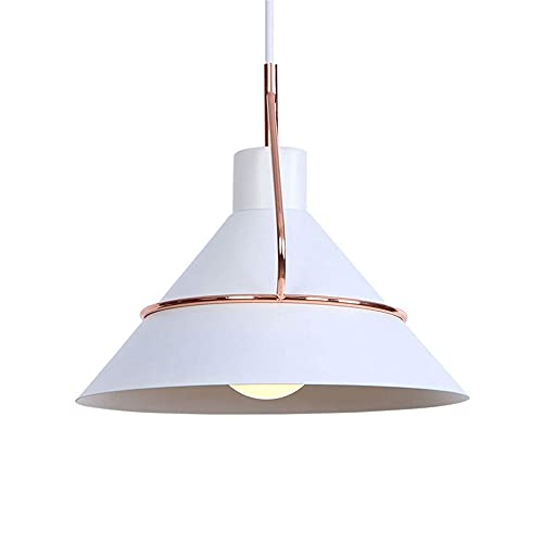 Luz colgante nórdica de hierro forjado, lámparas de la forma de la cubierta del olla de metal, lámparas de suspensión del titular de la lámpara E27, lámparas de suspensión simple, iluminación simples