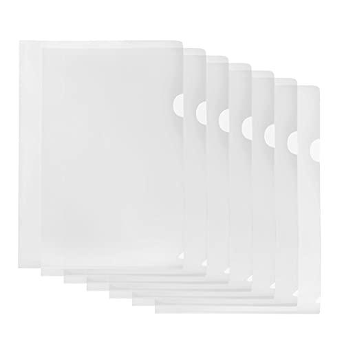 クリアファイル 20枚セット A4 縦 ファイル ケース 防水 高透明カラー 薄型 書類整理 資料収納 バッグ カバン (透明)