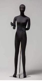 成人女性マネキン 軟体トルソー 布張りボディ黒 JF-LADIESB+BASE-NEW 関節可動 靴履き可