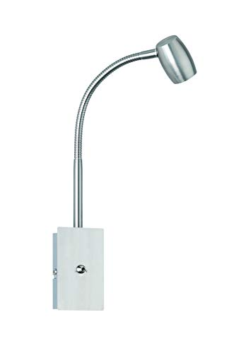 Trio Leuchten Wandspot 803080107 Michael, Metall Nickel matt, exkl. 1 x GU10, Flexarm