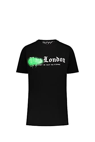 BOY LONDON T-Shirt Uomo Nera Girocollo Stampa M