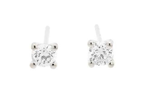 Diamant Ohrstecker 750/000 Palladium Weißgold