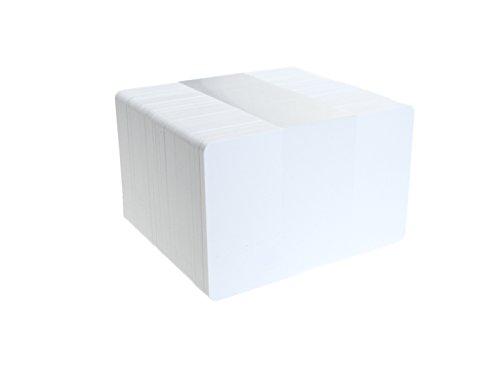 ID Card IT CR80 - Tarjetas de PVC para identificación (760 micrones), color blanco, color blanco