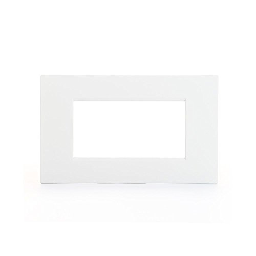 Bticino LNC4804BN Placca Livinglight Air 4 Moduli, Bianco Puro