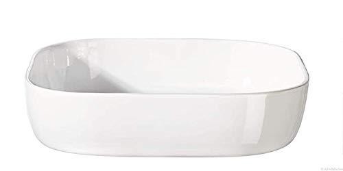 ASA - Plat à four carré - Dimensions : 31 x 31 cm - Hauteur : 7 cm - 5123147 - Lot de 2 pailles en acier inoxydable EKM Living