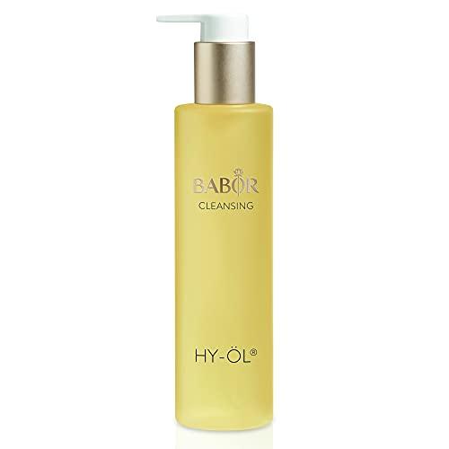 BABOR CLEANSING Hy-Öl für jeden Hauttyp, Pflege-Öl für die tägliche Gesichtsreinigung, Make-up-Entferner, Vegane Formel mit Vitamin E, 1 x 200 ml
