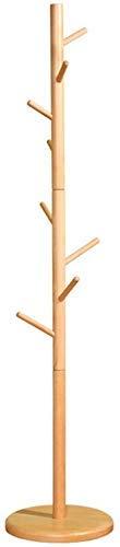 CAIJINJIN Perchas 8 de madera Estante de la capa Hooks independiente, sostenedor del soporte de sombrero de la suspensión de ropa con fondo redondo for la ropa, bufandas, bolsos, h umbrella174cm
