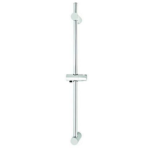 SANTRAS® Wandstange DELUXE 700 mm in Chrom – Individuell verstellbare Brausestange mit 2 BOHRLÖCHERN