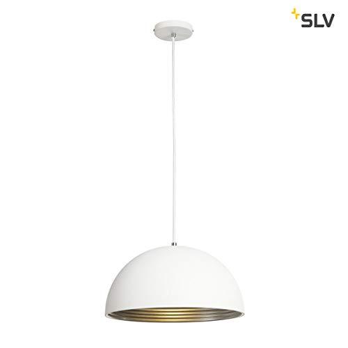 Slv forchini-m - Luminaria suspendido/a pd-2 40cm 40w blanco/plata