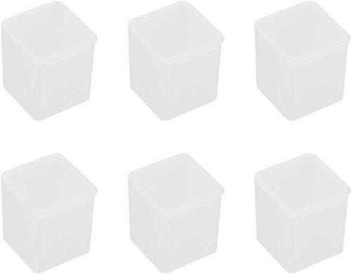 N A - Juego de 6 minicajas de almacenamiento de plástico con tapa
