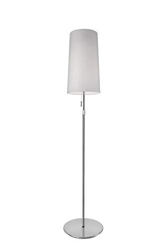 Villeroy&Boch Verona Stehleuchte, Metall, 60 W, Silber/Weiß, H 128-164 cm, Ø 24 cm