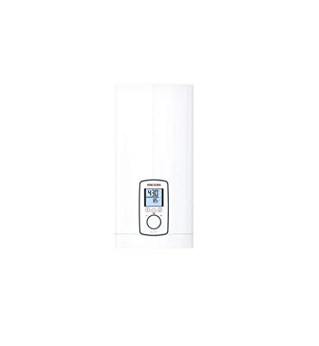 Stiebel Eltron 202656 DHE 18/21/24 Elektronisch geregelter Durchlauferhitzer, umschaltbar, ECO-Modus, hinterleuchtetes Multifunktionsdisplay, 2 Memory Tasten, gradgenaue Wunschtemperatur, 400 V, weiß