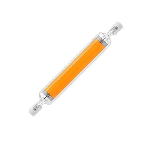 R7S LED 78mm 5W 10W R7S Spotlight 118mm 10W 20W 110V Lámpara de COB Tubo de vidrio Reemplazar 30W 50W 100W Luz de la lámpara de halógena-110V-High Brightness78mm-10w_blanco cálido