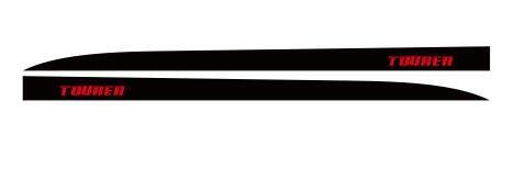 HLLebw Auto Seitenstreifen Seitenaufkleber Aufkleber, for Honda Civic Tourer Typer