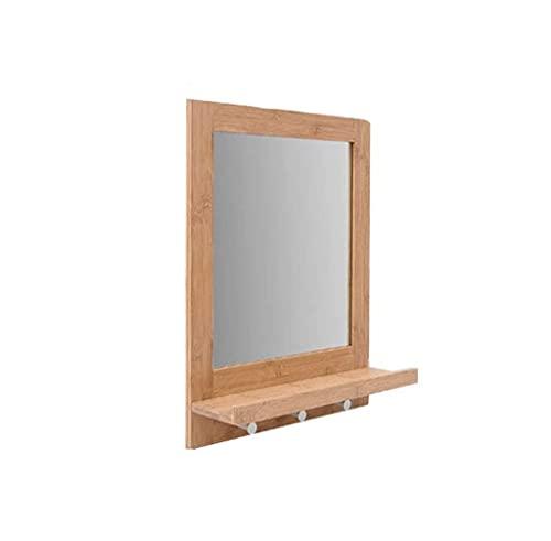GLXLSBZ Miroir Mural Miroir, Support de Rangement Porte-Manteau carré Multifonction Miroir Salle de Bain Chambre Salon Produits ménagers créatifs Miroir de Maquillage