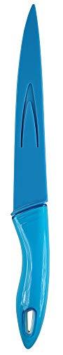 culinario Schneidemesser mit Klingenschutz, blau