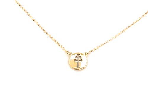 Medalla Cruz de Caravaca en Plata de Ley Cubierta de Oro de 18kt®