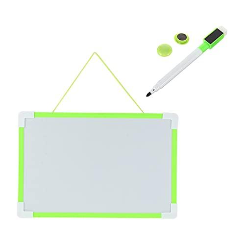 JKXWX Pizarron 1 Set Doble Caras de Escritura Creativa Tablero de Escritura Colgante Pizarra Blanca
