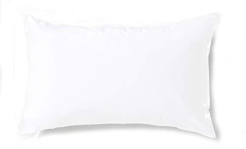 Carrefour Tex - Federa per cuscino in cotone percalle bio 45 x 110 cm bianco