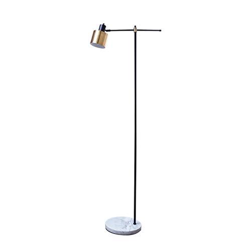 Vloerlamp Nordic slaapkamer woonkamer smeedijzer goud zwart marmer basis lezen staande licht 0705LDD