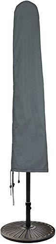HENTEX Housse de protection pour parasols jusqu'à Ø 270 cm, 160 x 25/35 W cm, avec tige pliable en fibre de verre, parasol déporté imperméable et respirant