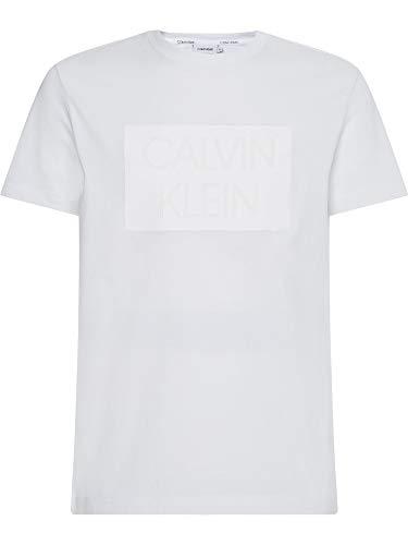 Calvin Klein K10K106496YAF BIA T-Shirt Uomo Uomo Bianco XL