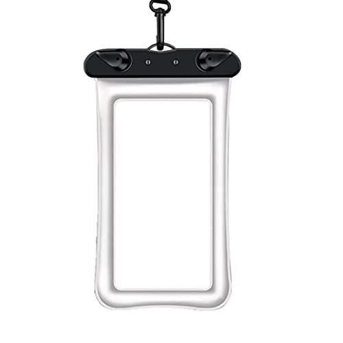 Funda impermeable para teléfono móvil sumergible para la mayoría de los teléfonos móviles (IPX8), color blanco