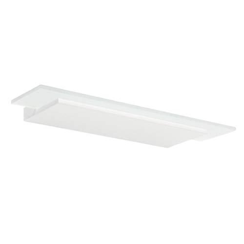 Dublight kunststof aluminium wandlamp in wit | Handgemaakt in Italië | Wandlamp Modern Design Dimbaar | Ledlamp LED