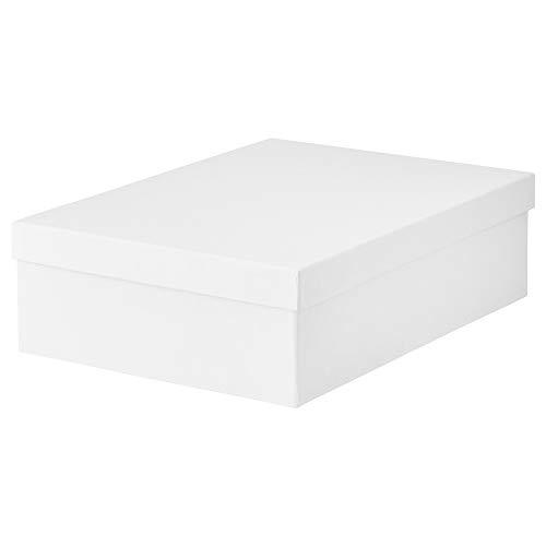IKEA 903.954.22 Tjena - Caja de almacenaje con tapa, color blanco