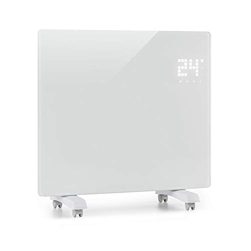 Klarstein Bornholm Single Smart - Konvektionsheizgerät, LED-Display, Touch-Display, Timer, App-Steuerung, 2 Heizstufen 500 & 1000 Watt, Thermostat 5-45°C, Eco-Modus, Temperaturanzeige, weiß