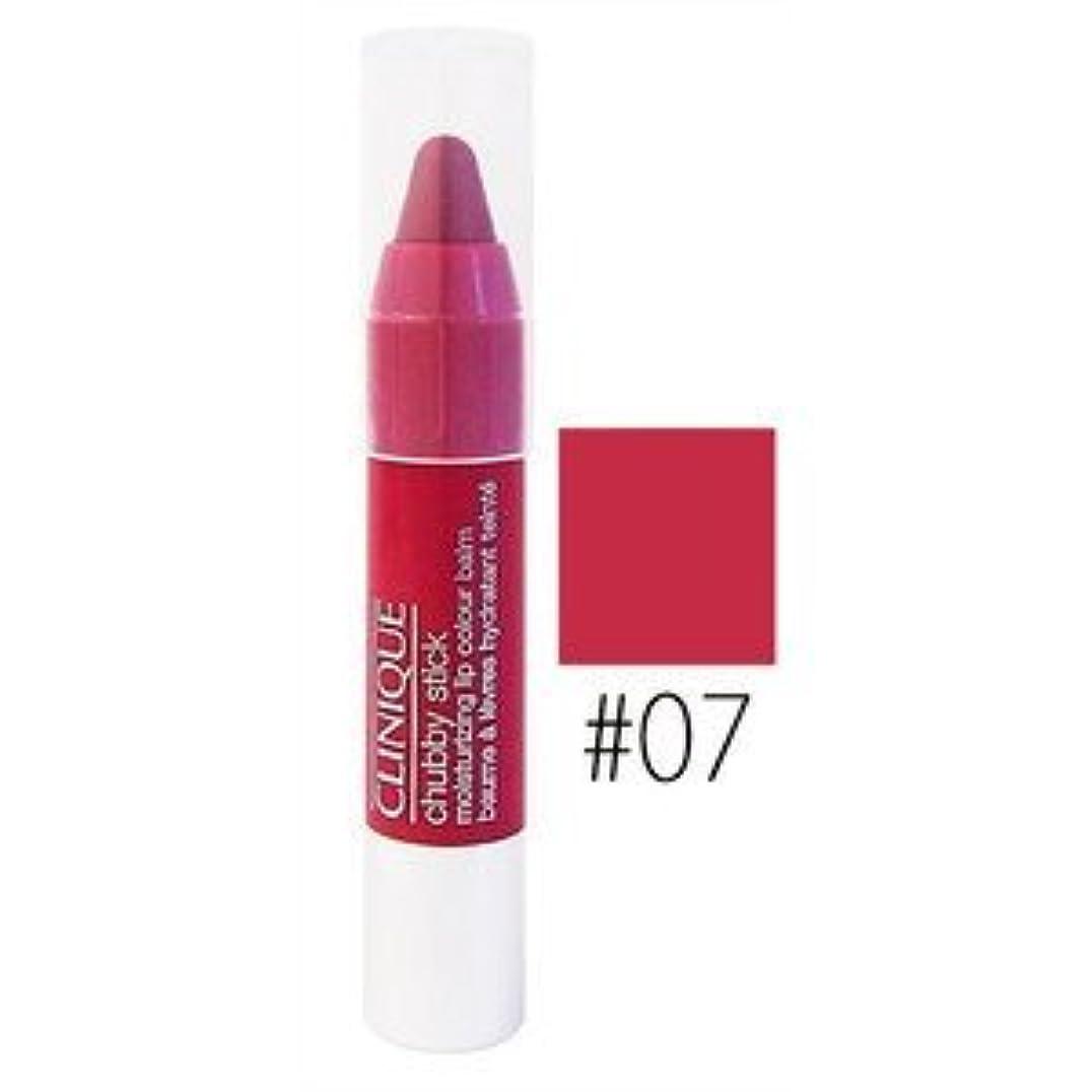 クリーム気分矛盾するクリニーク チャビースティック モイスチャライジング リップカラーバーム【#07】 #super strawberry 1PC(ミニ)(並行輸入品)