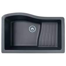 SWANSTONE Undermount Granite 22 x 33 Inch Ascend Bowl Kitchen Sink in Nero QUAD-3322
