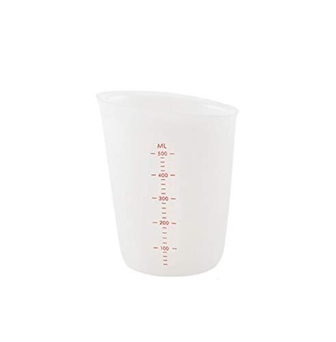 250/500 ml Copa de medición de silicona Tazas de resina epoxi Tazas Splits Flexibles Cocina Herramienta Herramienta Leche Taza Lavable Reutilizable (Color : 500ml)