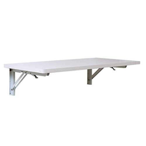 Mesa plegable de madera maciza blanca con soporte K, mesa rectangular simple multiusos con soporte K, mesa plegable portátil para ordenador portátil (tamaño 70 x 60 cm)