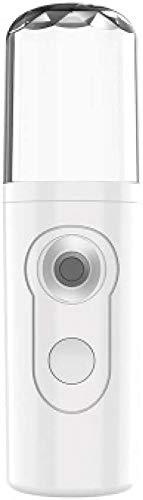 LHY Durable Pulverizador de Humidificador Mini Portátil USB Recargable Nano Pulverizador Alto Eficiencia Hidratante Profunda Pequeño (Color : White)