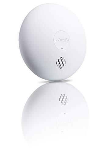 Somfy 1870289 - Vernetzter Rauchmelder | 85dB Sirene | Kompatibel mit Somfy Home Alarm, Somfy One (+) und Somfy Innenkamera