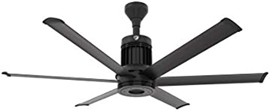 Big Ass Fans i6 60 Inch Indoor Ceiling Fan with Universal Mount and 6 Inch Extension, Black Finish, SenseMe Technology, Bluetooth Remote Included, Residential or Commercial