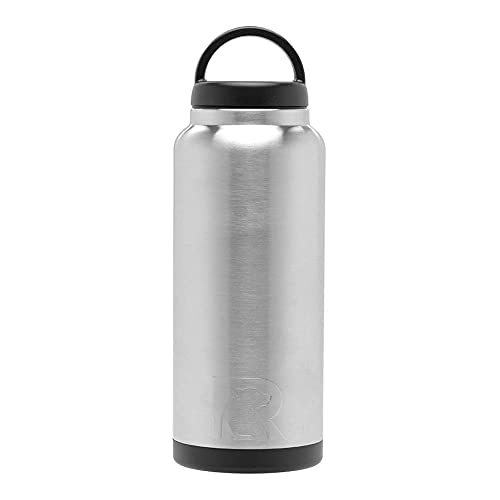RTIC Water Bottle 36 oz, Stainless, Vacuum-Insulated, Stainless Steel