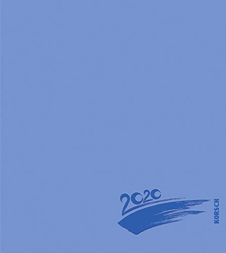 Foto-Malen-Basteln Bastelkalender blau 2020: Fotokalender zum Selbstgestalten. Do-it-yourself Kalender mit festem Fotokarton. Edle Folienprägung. Format: 21,5 x 24 cm