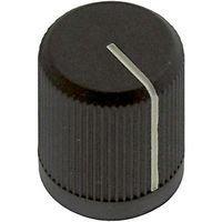 EHC (ELECTRONIC HARDWARE) 3009-2-B ROUND KNURLED KNOB, 6.35MM (1 piece)