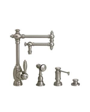 Waterstone 4100-12-3-PN Towson Kitchen Faucet - 12' Articulated Spout 3pc. Suite Polished Nickel