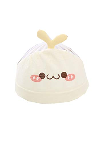 YANHUIGANG Chapeau de Plage Chapeau Summer Cute Super Cute Thin cotton-38-43cm_One Size_Small Sprouts-Yellow