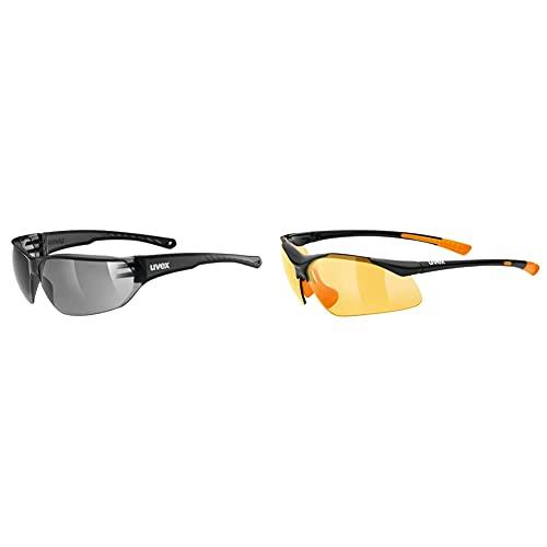 Uvex Sportbrille Sportstyle 223 & Erwachsene Sportstyle 204 Sportsonnenbrille, Smoke, One Size