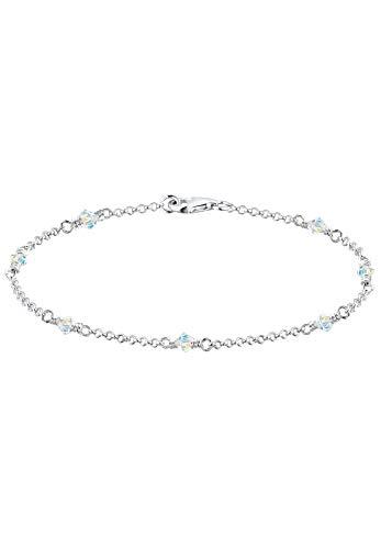 Elli Armband Damen Filigran Elegant mit Kristalle in 925 Sterling Silber