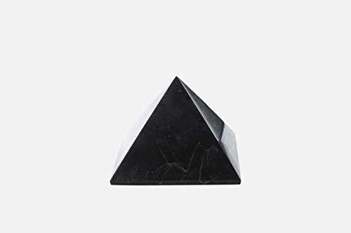 Edel- und Heilstein Schungit direkt aus Karelien: Pyramide 15 cm Poliert, EMF Strahlungsschutz