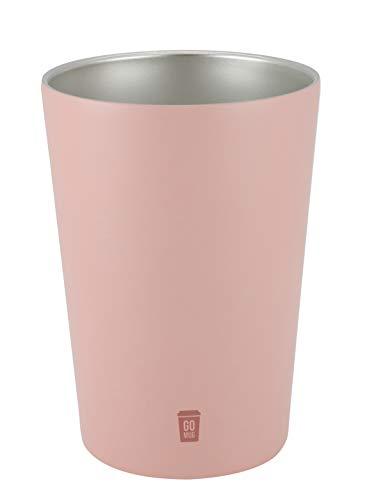 シービージャパン タンブラー ピンク 460ml Mサイズ 保温 保冷 コンビニ コーヒーカップ ステンレス 真空 断熱 GOMUG