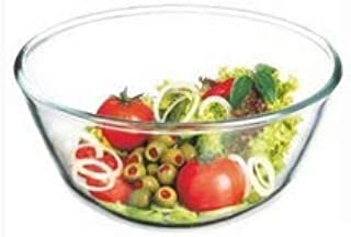 Simax Glassware 1.8 Quart Glass Mixing Bowl | Heat, Cold, and Shock Resistant Borosilicate Glass, Dishwasher and Microwave Safe, Made in Europe
