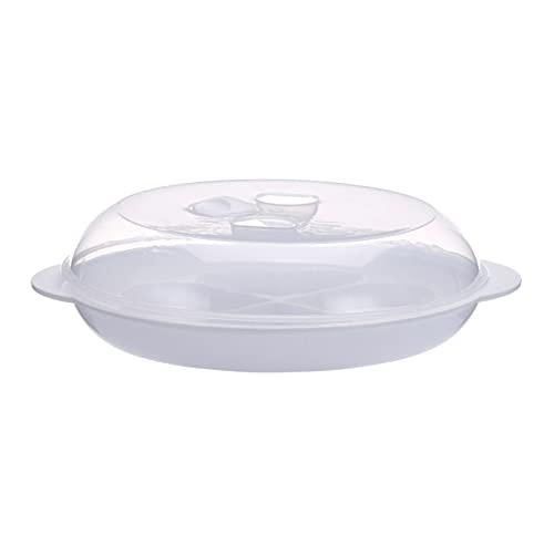 jiangye Huevera reutilizable de plástico con forma de corazón para microondas y horno microondas