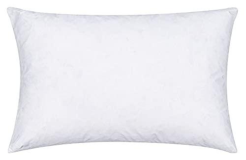 MOON Set di 2 cuscini di imbottitura in piuma d'oca, ca. 30 x 50 – 340 g, 90% piuma, 10% piumino con pass da sogno extra resistente